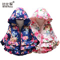 Baby Girls Coats Children cotton-padded clothes hot style girl Fur roses brought new coat hooded cotton-padded clothes