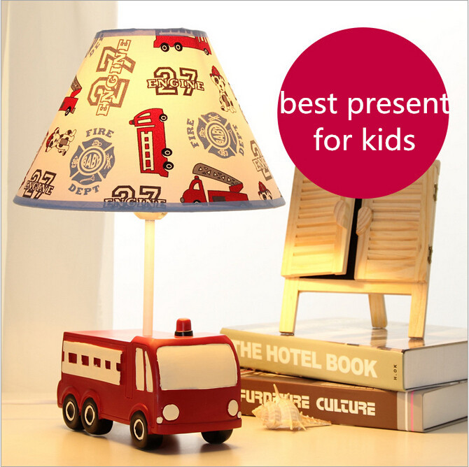 resin fabric eco friendly adjustable creative fire truck children's room e27 table lamp for kids present 1933 student book and active book pack cosmic level b1 cd rom