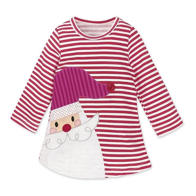 Baby Girls Christmas Dresses For Girls Dress Deer Stripes