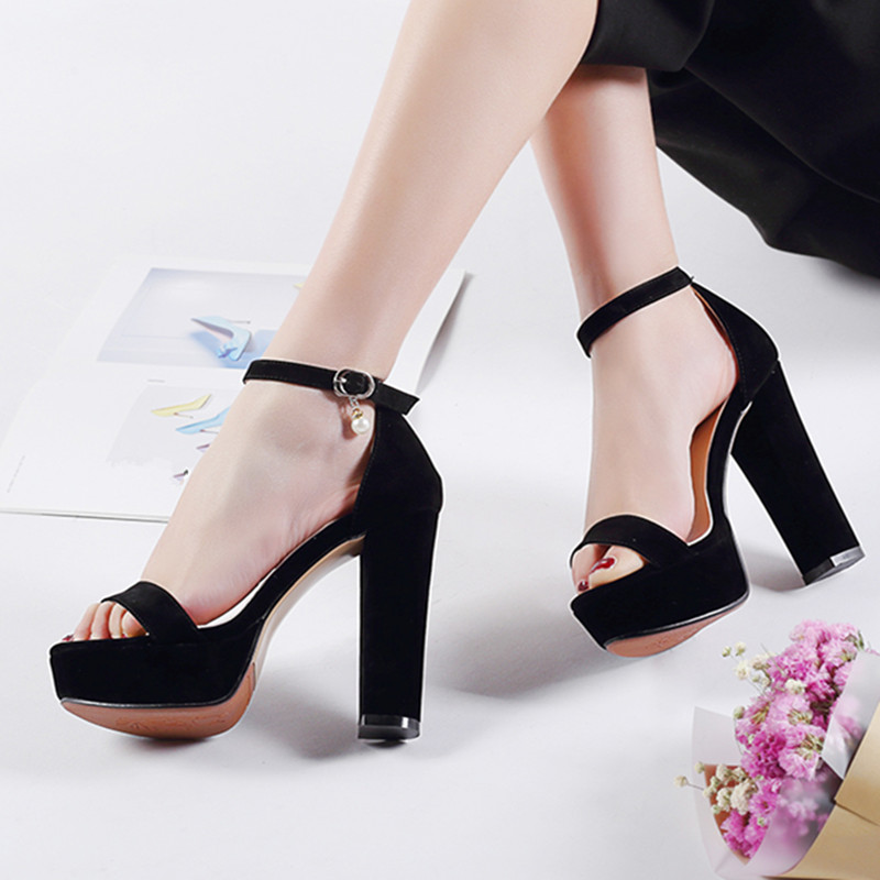 558bf57c0adf ... Heels Black Platform Red Strap Party Women Size Elegant Shoes Rose  Ankle Sandals High Summer YMECHIC ...