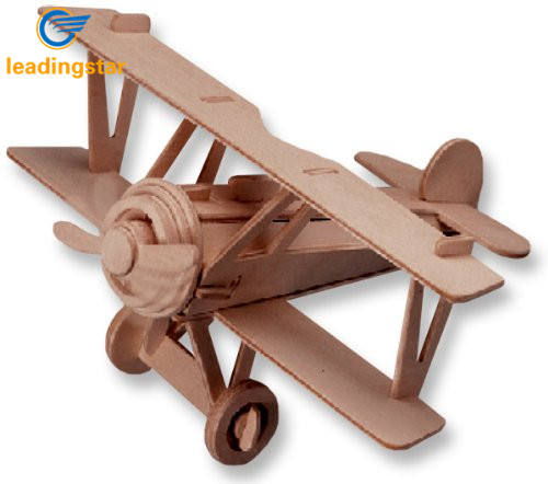 RCtown Small Biplane Model Albatros Dv  3D Wooden Puzzle Great For Children Puzzle Toy For Children Zk15