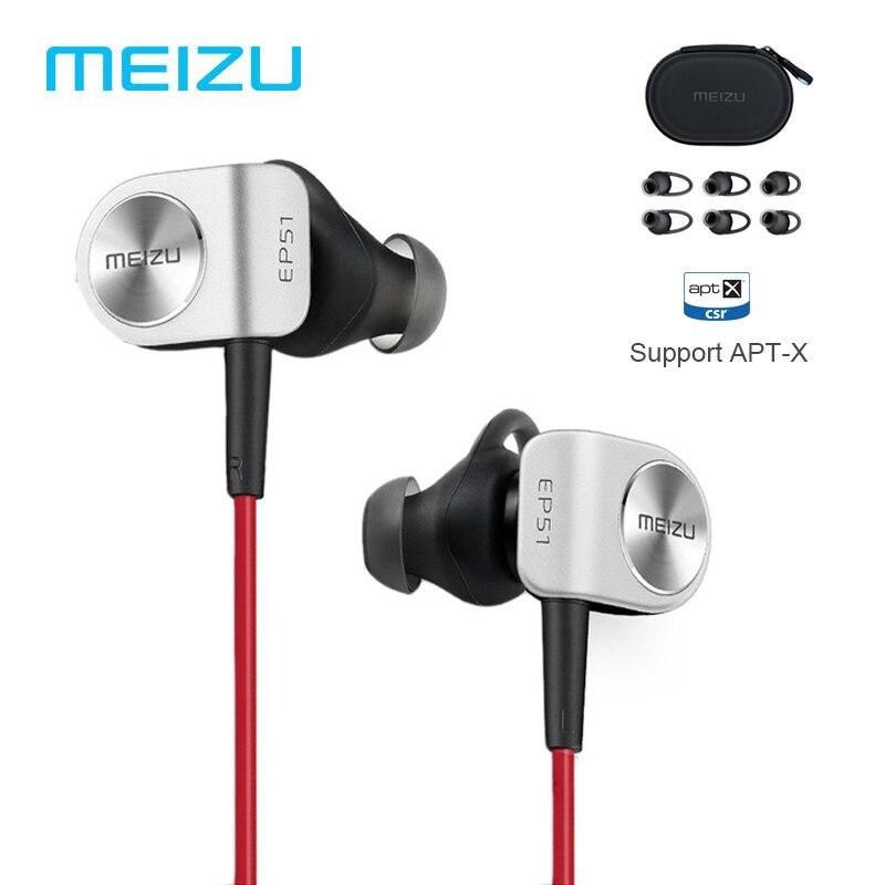 Original MEIZU EP51 Bluetooth Headset Sport Earphone for phone Computer wireless earphones Sports APT-X With MIC Aluminium Alloy