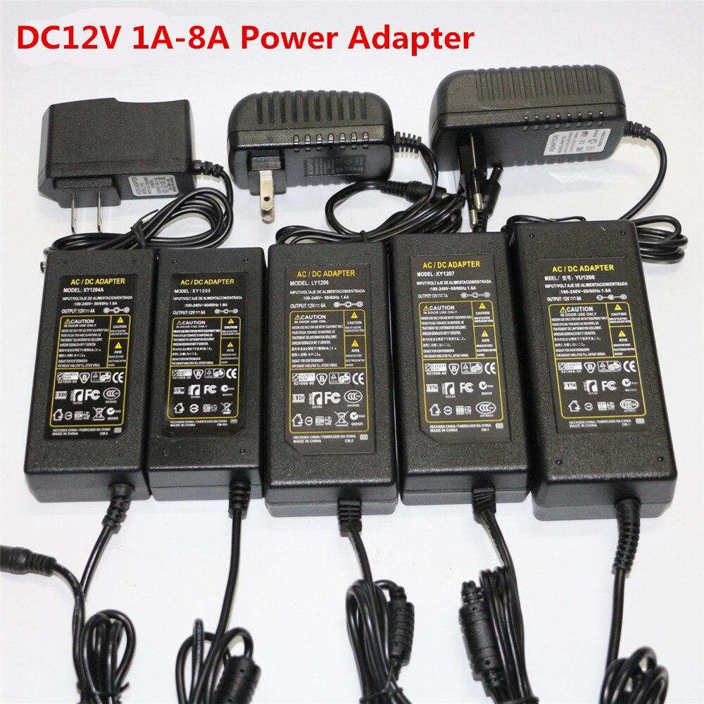 1 шт. штепсельная вилка EU US AU UK AC110V 220V к DC12V 1A 2A 3A 4A 5A 6A 7A 8A адаптер питания зарядное устройство импульсный источник питания трансформатор