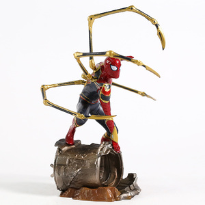 Image 4 - Iron centre Iron Spider Spiderman scala 1/10 PVC Figure Toy Model da collezione