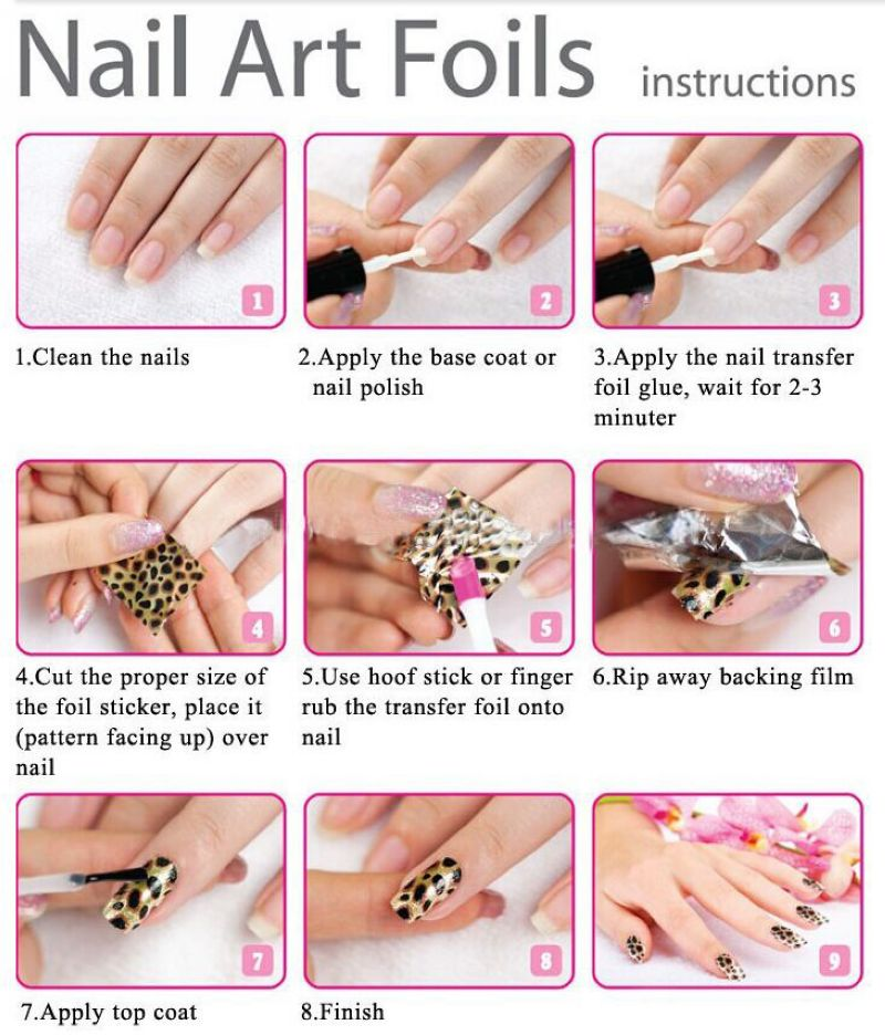 Fashion Design Nail Transfer Foil Film Stickers Pink Large Lily Flower GL117 In Decals From Beauty Health On Aliexpress