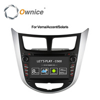 Ownice C500 Octa 8 Core Android 6.0 CAR DVD player cho Hyundai Solaris accent Verna i25 với GPS BT radio wifi 4 Gam LTE Mạng