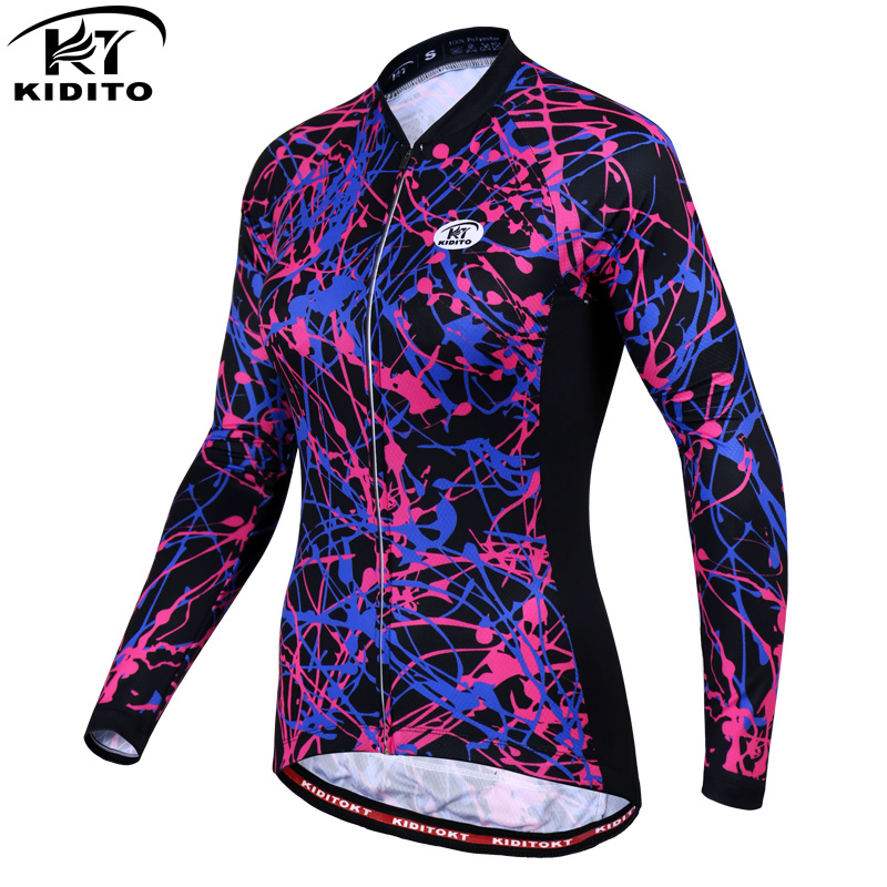 KIDITOKT Cycling Clothing Long Sleeve Cycling Jerseys Women Cycle Clothes Riding Equipment Autumn Winter New MTB Bike Jersey