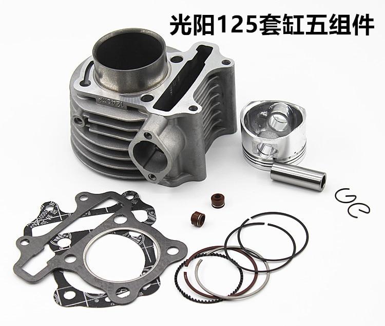 Kit de cylindre GY6 125CC pour moteur 152QMJ avec segments de Piston pour motos chinoises Yamaha Suzuki Keeway QJ 125 Honda