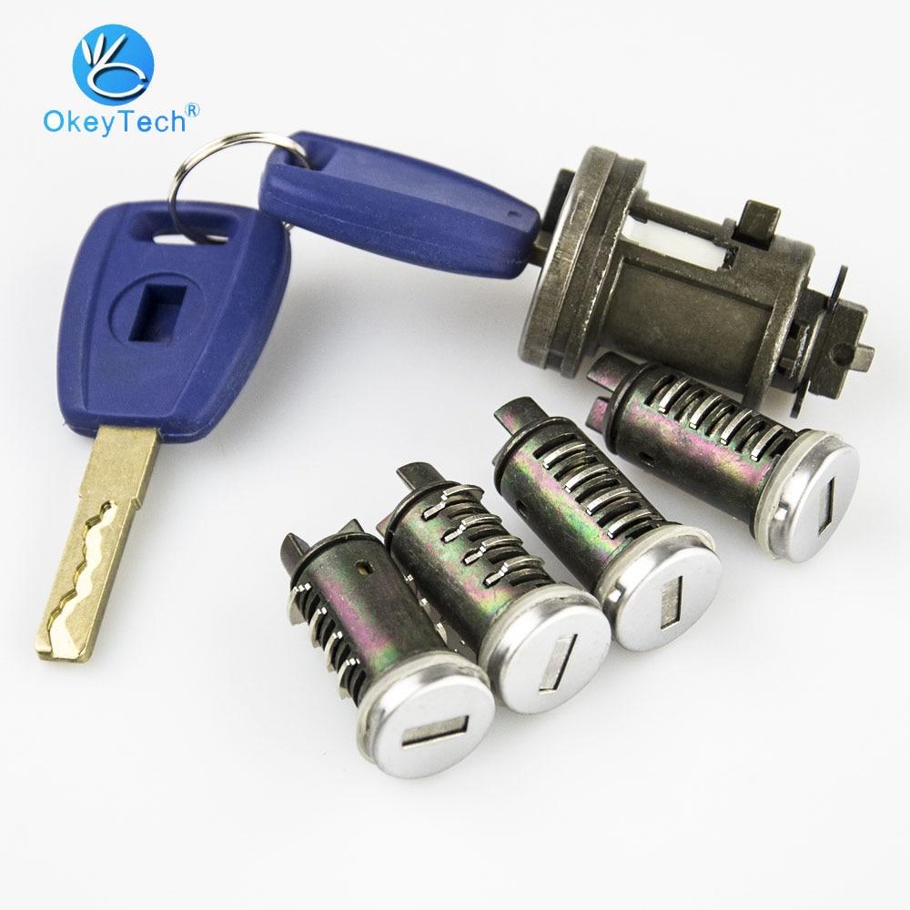 Набор замков зажигания OkeyTech для Fiat Ducato Peugeot Citroen SIP22, лезвия, ключ, дверь, оригинальный фрезерный цилиндрический замок для багажника
