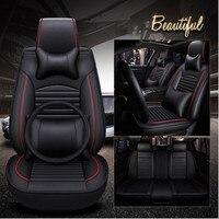 Хорошее качество! Полный комплект чехлы сидений автомобиля + Руль Обложка для Mercedes Benz ML 300 320 350 400 W166 2015 2012, бесплатная доставка