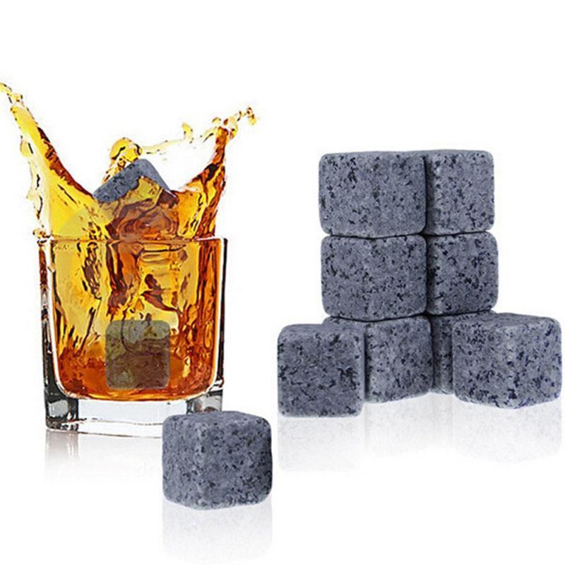 9Pcs/Lot Ice Cubes Rocks Cold Glacier Stone New Magic Whisky Cooling Stone Rocks Cold Glacier Stone Bar Home Beer Drink Cooler