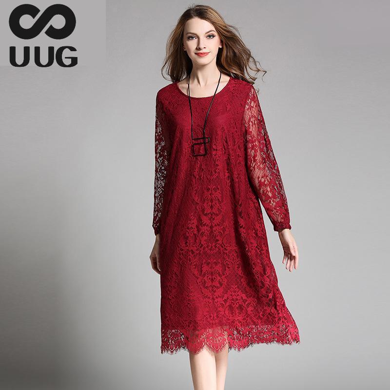 4XL 3xl Summer Lace Dress Plus Size Women Clothing Vintage Vestidos 2017 Dresses Women O neck A Line Casual Loose Dress Large x