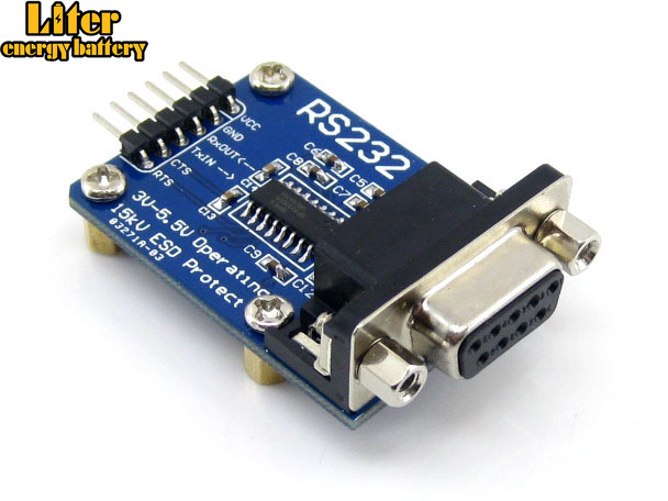 RS232 Board SP3232 RS-232 UART RS232 To TTL Transceiver DB9 Connector Evaluation Development Board Module Kit