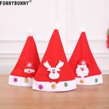 FUNNYBUNNY Santa Claus Christmas Decor Children Hat XMAS Tree Snowman Game Gifts Toys