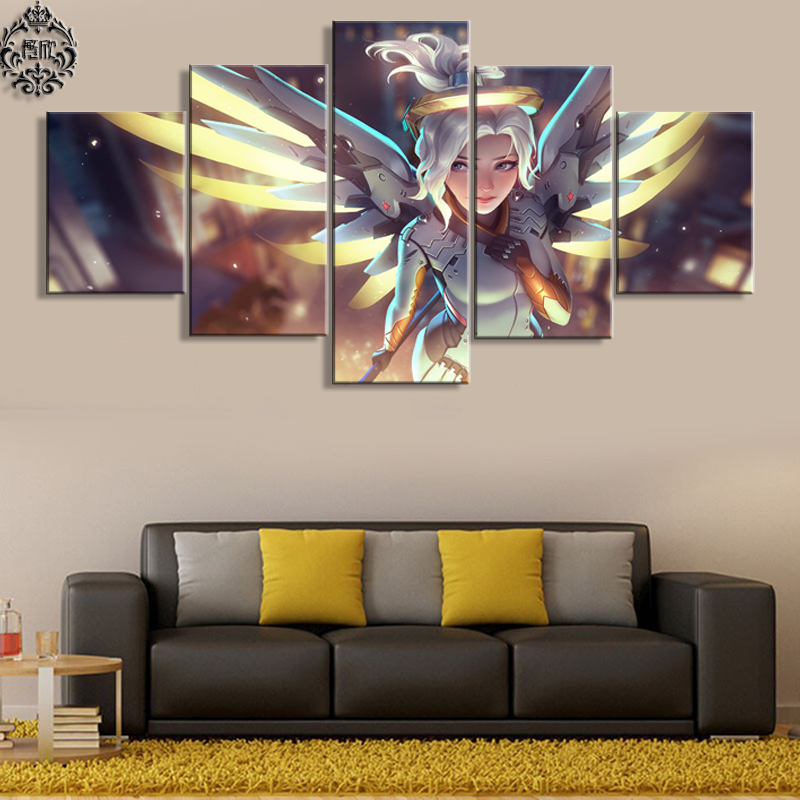 Canvas Printed Painting Pictures 5 Panel Wall Art