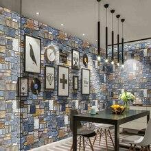 купить Modern 3D Brick Wallpapers Self Adhesive Vinyl Roll Wall Murals Rolling Rock Stone Backdrop Wall Paper for Walls contact-paper по цене 1875.78 рублей