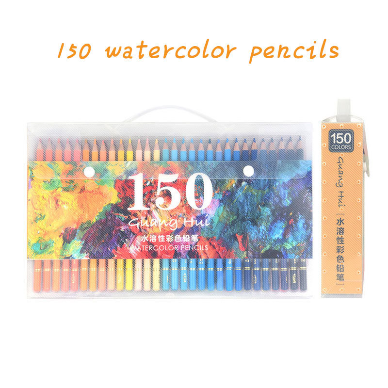 150 Pastel Pencils Soft Watercolor Pencils Wood Coloured Pencils Set For Drawing Painting Sketch Art Supplies gifts for kids art supplies 150 colors soft watercolor pencils wood water soluble coloured pencils set for lapis de cor painting sketch school