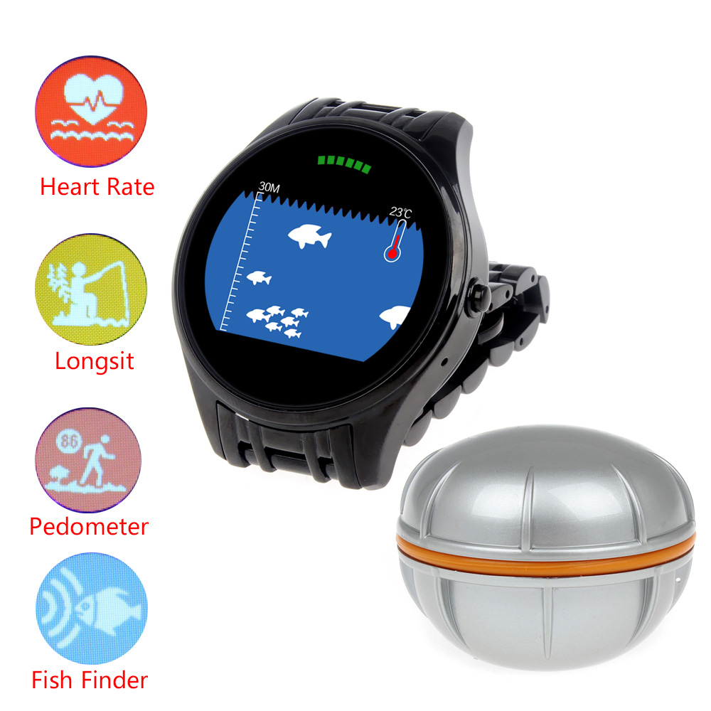 free shipping!t1 wireless bluetooth fish finder wrist smart watch, Fish Finder