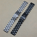 Many size 14mm 16mm 18mm 20mm 22mm Watchband Straps Bracelet Silver Black watches accessories polished solid link for men hours