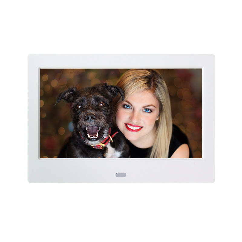 Rain HD Screen Digital Photo Frame Electronic Album 17 Inches 800 *480 Multi-language with Remote Control Video Functions 9 7 hd digital photo frame with remote control silver