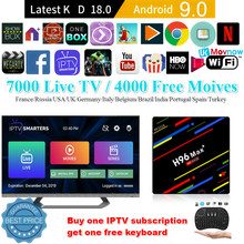 H96 Max Plus Android caja de TV Android 9,0 Rockchip RK3328 Quad core 4GB RAM 64 ROM Bluetooth 4K 2,4G/5G WiFi Smart TV reproductor multimedia(China)