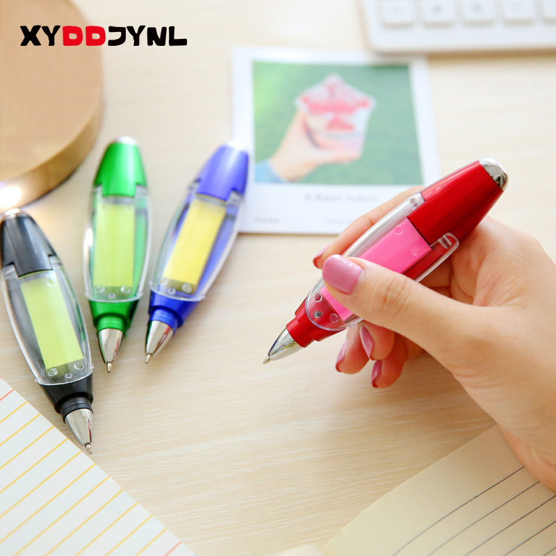 XYDDJYNL Multifunctional Promotional Ballpoint Pens Sticky Notes LED Light Pen New Cute  ...