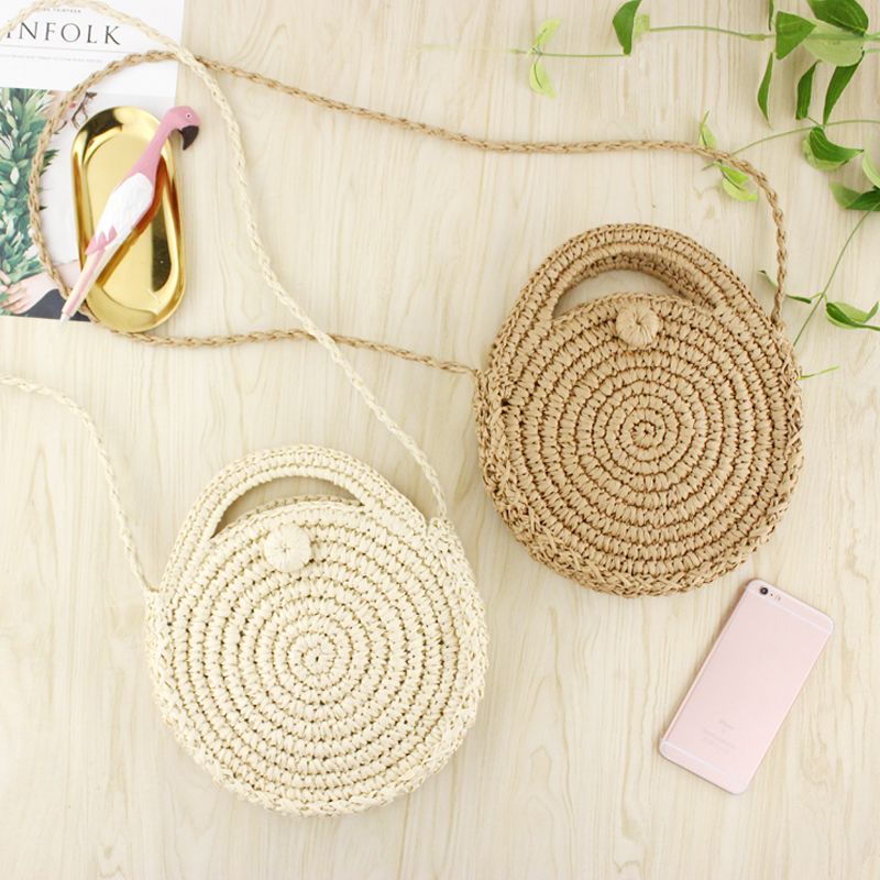 Women Fashion Beach Bag Straw Crossbody Shoulder Bags Female Purses and Handbags Ladies hand bags fabric bags shoulder straw summer of women fabric crossbody bags canvas jute beach travel bag