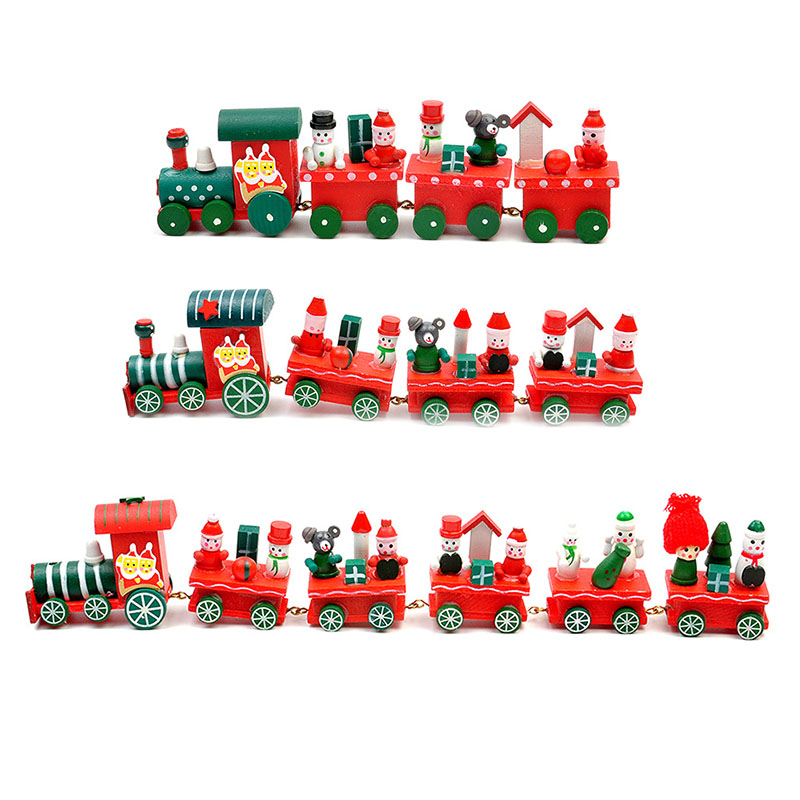 Christmas Toys Cars : Christmas track car wooden trains rail cars toys model