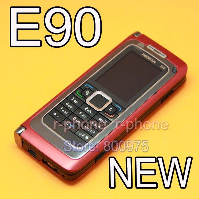 100 Original NOKIA E90 Mobile Cell Phone 3G GPS Wifi 3 2MP Bluetooth Smartphone Red Gift