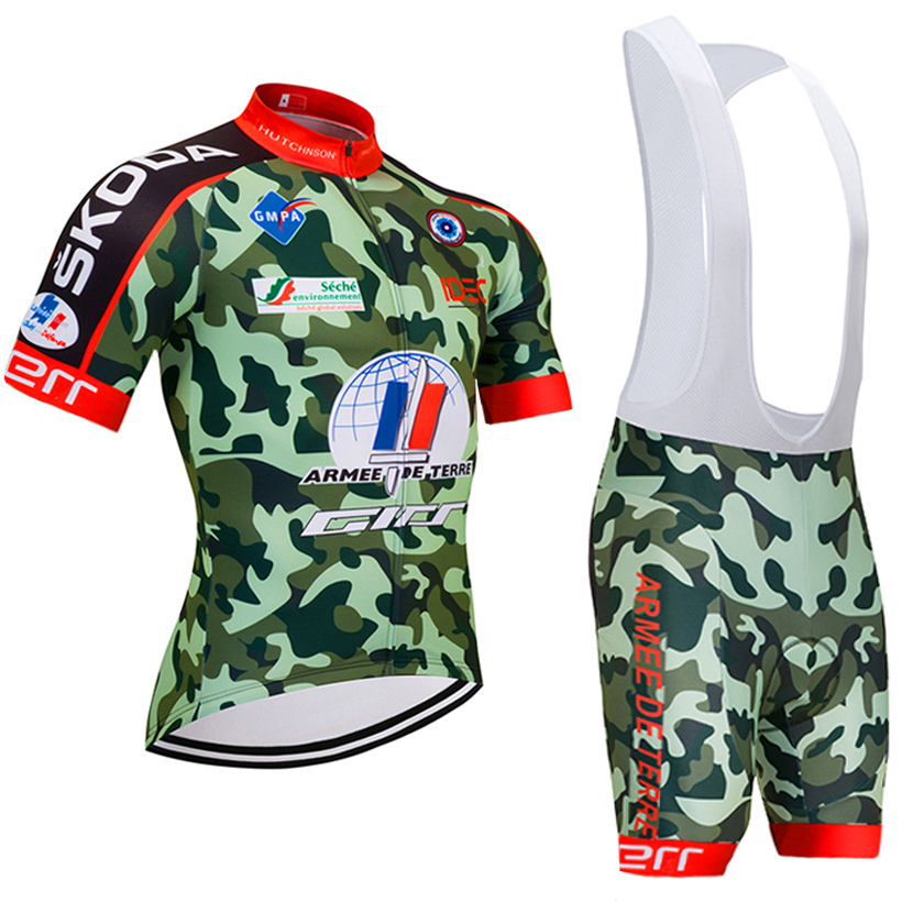 2018 camouflage Cycling Clothing Bike jersey shorts set Ropa Ciclismo Quick Dry Mens pro Cycling Jerseys gel BICYCLING Maillot