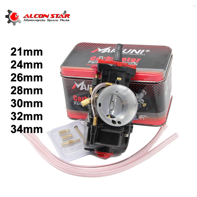 Alconstar-Motorcycle Mikuni Carburetor Keihin PWK 21 24 26 28 30 32 34mm Carburador Koso Fit Irbis TTR250 virago 250 Carburetor zsdtrp pwk mikuni new modify model 28 30 32 34mm carburetor carburador case for yamaha fz16 and other brand motor