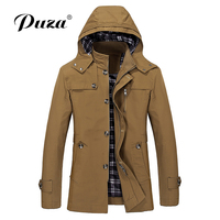 2018 New Arrived Men Trench Coat men are upscale in winter slim Fit Casual trench coat male Pure color cotton long jacket 5XL