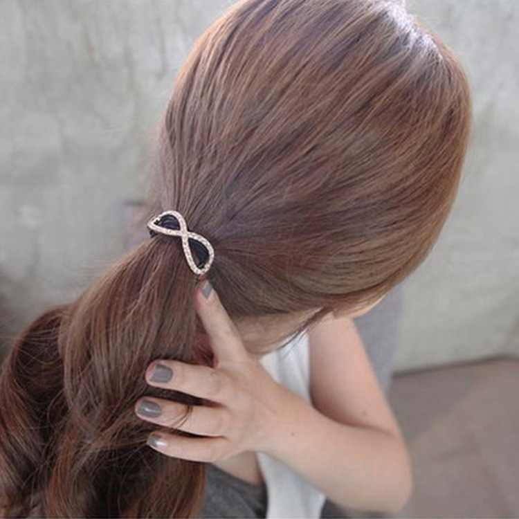 2018 nuevos adornos de pelo de goma de cristal elástico de moda para mujer tocado de Pelo elástico con niñas joyería accesorios de pelo indio