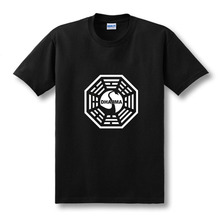 Unisex LOST Dharma Initiative Printed Cotton T-Shirt