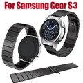 Nueva 23mm venda de reloj de acero inoxidable correa de liberación para samsung gear s3 classic frontera correa de muñeca brazalete de eslabones de plata negro