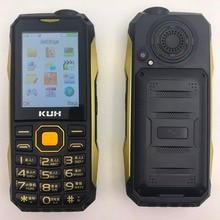 A prueba de golpes whatsapp mp3 mp4 banco de la energía de bluetooth 3.0 FM linterna negro lista de internet teléfono móvil resistente P004