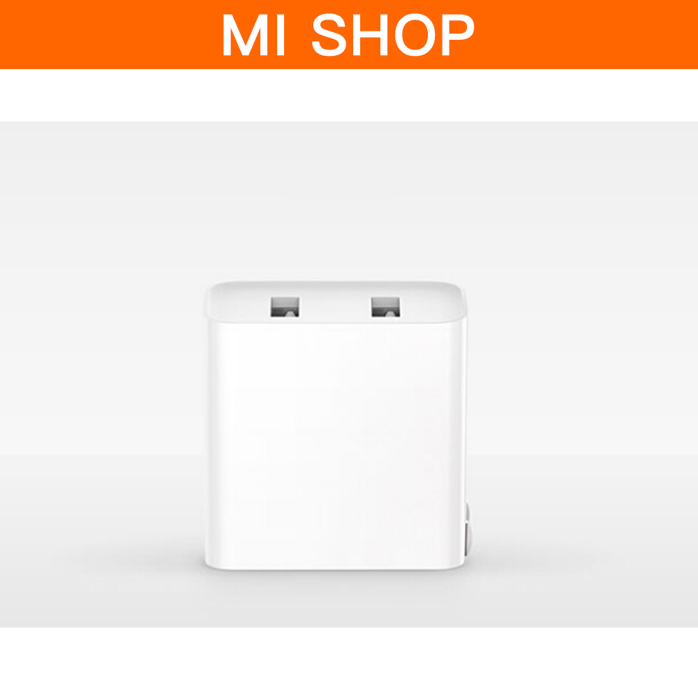 Original Xiaomi Dual USB Fast Charger 5V 3.6A QC3.0 BC1.2 AC100-240V Charger Device For Phones