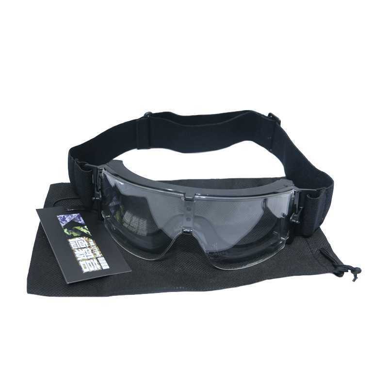TAK YIYING Airsoft Tactical Cycling Eyewear SunGlasses War games Goggles Wind-proof mirrors Black 1 Lens