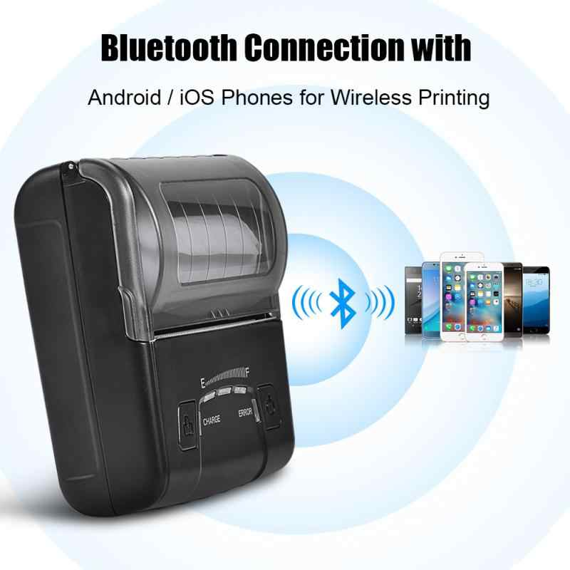 Mini USB Bluetooth Thermal Receipt Printer POS Printing for iOS Android Windows Linux UK Plug
