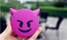2016 2600MAH Purple Devil Emoji Power bank Cartoon Cute Funny Gift PVC Portable Charger for iphone6 6s xiaomi mi5
