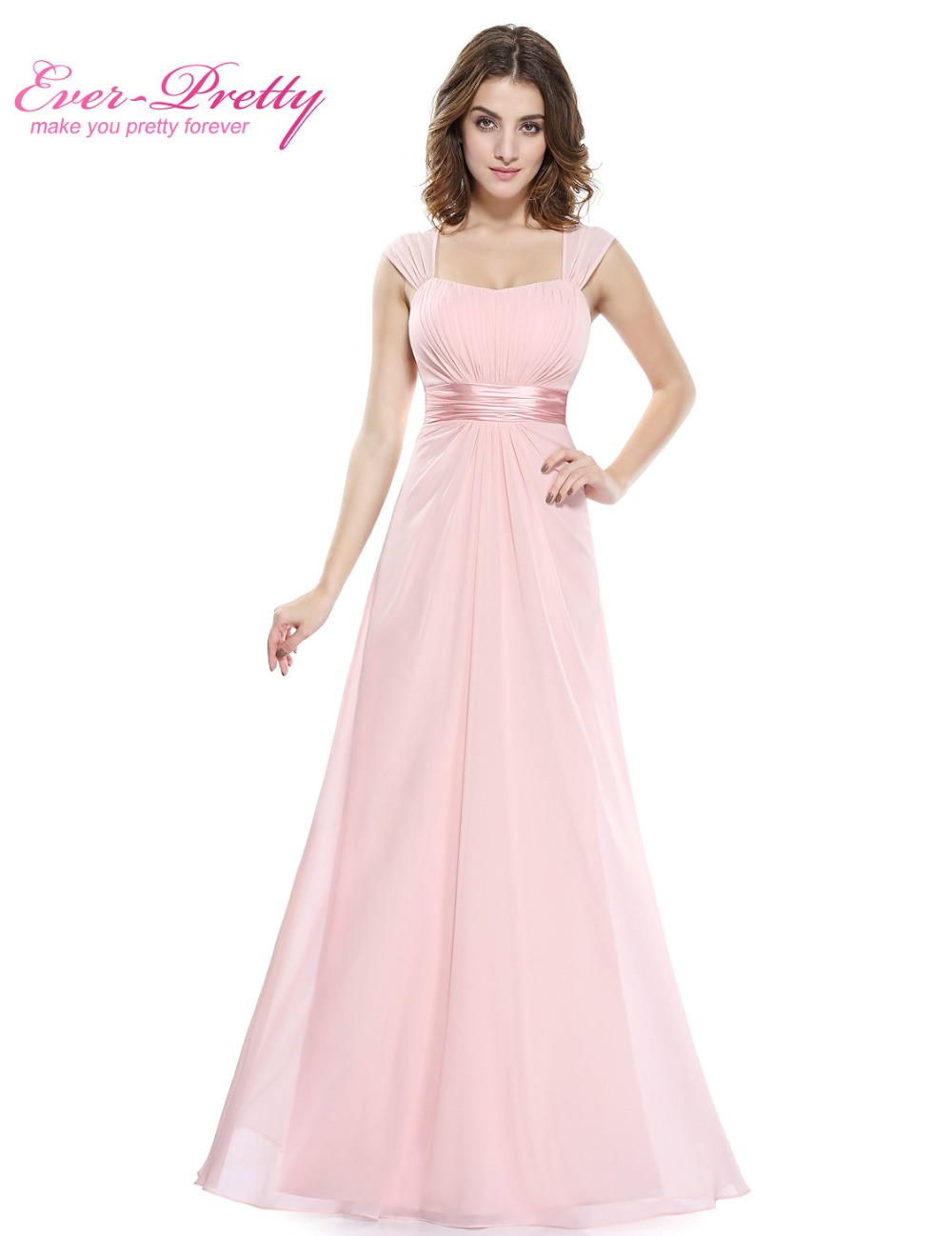 Pink bridesmaid dresses 2017 ever pretty he08834 long for Cheap chiffon wedding dresses