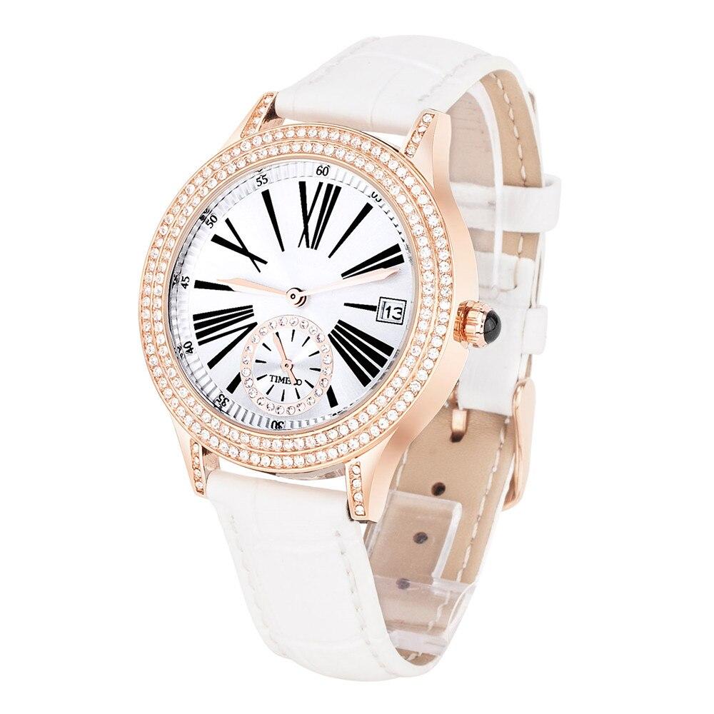 6d58528aeca TIME100 Mulheres Assistir algarismos Romanos dial calendário de couro  vermelho de Pulso de Quartzo Relógios Para As Mulheres Senhoras Relógio  relogio ...