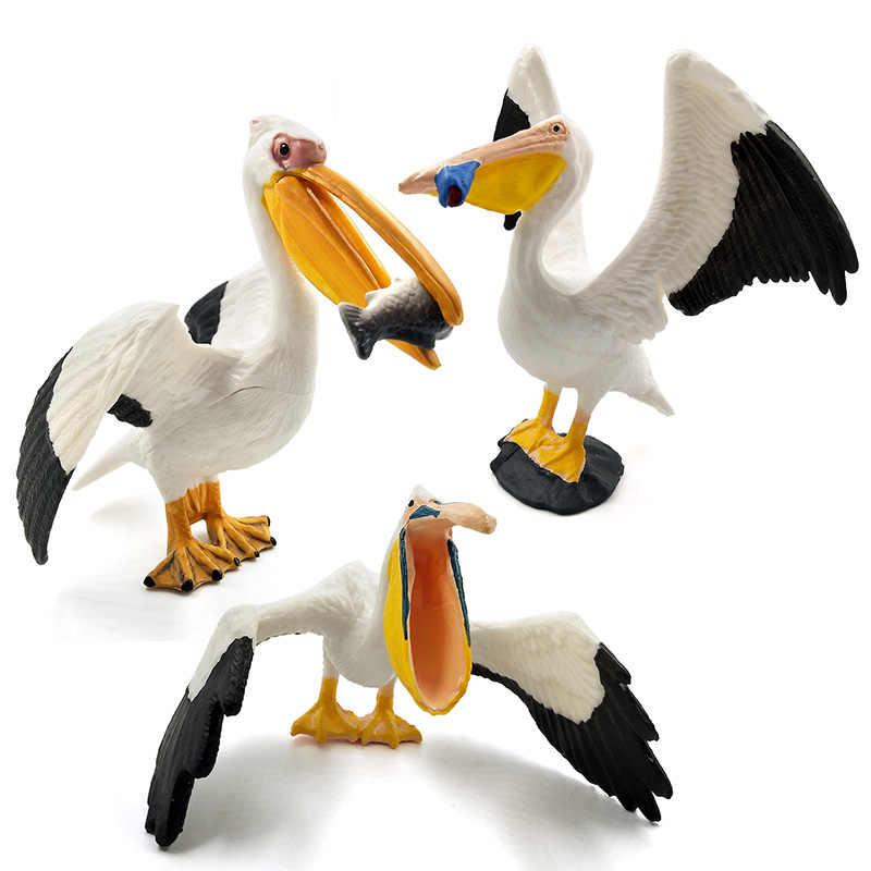 Brinquedos quentes águia do mar papagaio peru pássaro figura de ação plástico modelo animal fada decoração do jardim estatueta uma peça presente para o miúdo