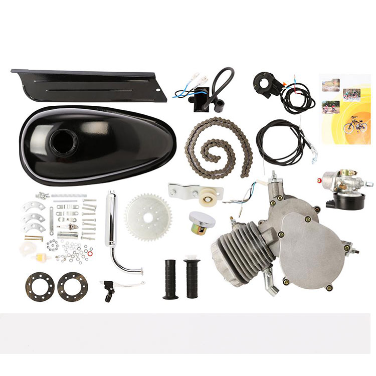 80cc 2 Stroke Petrol Gas Motor Engine Kit For Motorised Bicycle Black
