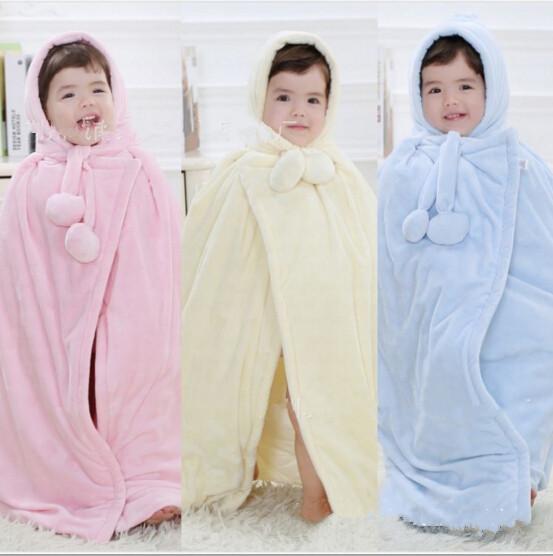 2016 do bebê de veludo capa quente cabo manto inverno capa Baby Girl menino transportando crianças manto frete grátis