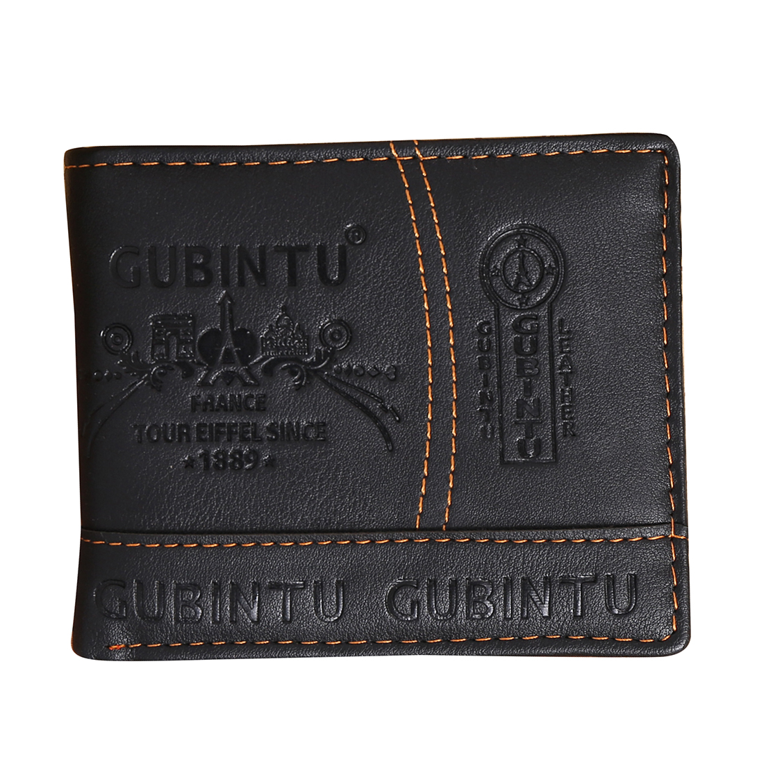 5) Slim Leather Mens Wallet Man Cowhide Cover Coin Purse Small Brand Male Credit&id Multifunctional Walets