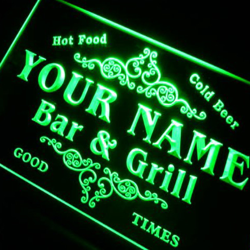 Custom Signs/ Neon Signs/ LED Signs/ Edge Lit Signs/ Your Own Design Family Bar & Grill Beer Home Gift Neon Sign