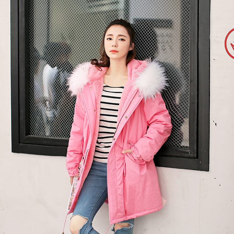 Подробнее о Winter Jacket Women Faux Fur Collar Hooded Coat Parkas Woman Warm Outwear Thick Soft Lining Abrigos Mujer Large Size winter jacket men coats thick warm casual fur collar winter windproof hooded outwear men outwear parkas brand new