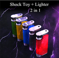Electric Shock Toy Lighter 2 in 1 Novelty Hallowmas Gifts Prank Toy Trick Product Joke Gift for Men Free Shipping