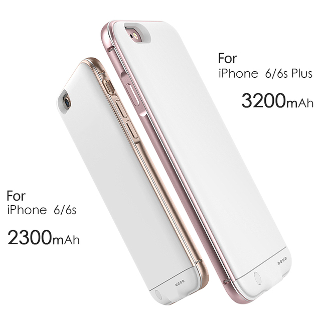 Ultra Slim Extended Power Cases for iPhone 6 6s Plus 5.5 inch Battery Cases for iPhone 6 6s 4.7 inch Charging Battery Case 2in 1